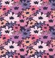 vintage flower seamless pattern vector image