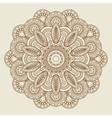 Round floral henna tattoo mandala vector image
