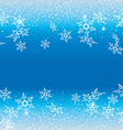 White snowflakes against a blue background vector image vector image