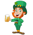 leprechaun with beer vector image vector image