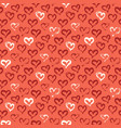 seamless heart pattern hand painted ink brush vector image