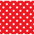 Red polka dot seamless pattern design vector