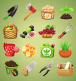 farmer icons set1 1 vector image