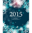 Abstract Beauty Christmas 2015 and New Year vector image