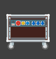 flat style colored concert stage rack box power vector image