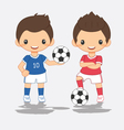 cartoon of soccer player vector image