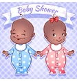 Baby Shower - boy and girl vector image