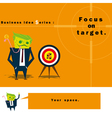 Business Idea series Focus on target vector image