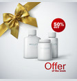 cosmetic product line ad vector image