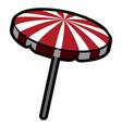 isolated umbrella icon vector image