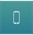 mobile flat icon vector image