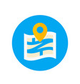 navigation icon in flat style vector image