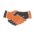 Shaking hands between cultural communities vector image