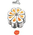 watercolor rolls - vector image