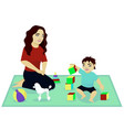 mother play with baby vector image vector image