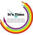 its time gay with place for your text vector image vector image