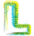 Sketch font Letter L vector image