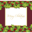 christmas holly ornament vector image
