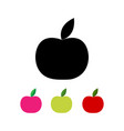 apple in different colors vector image
