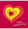 background on Valentines Day with layered heart vector image