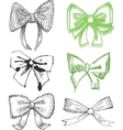 Drawn Bows vector image