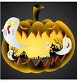 Halloween Pumpkin on black background vector image