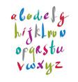 Handwritten script alphabet letters set vector image