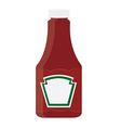 Ketchup bottle vector image