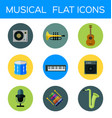 musical flat icon vector image