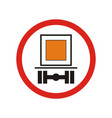 prohibiting traffic sign vector image