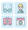 set of medical equipment instrument healthcare vector image