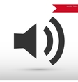 Speaker volume icon vector image