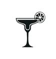 Margarita cocktail icon Simple black design vector image