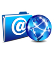 email folder and communication Internet World vector image vector image