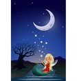 A fairy in the middle of the night vector image vector image