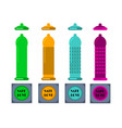 condoms and packages on white background vector image