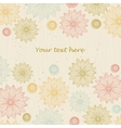 Beautiful floral background for text vector image