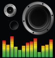 music background with speaker vector image