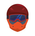 Snowboarding design vector image