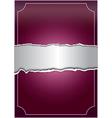 Creative purple background vector image