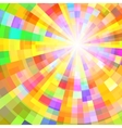 Abstract Colorful Circle Tunnel Background vector image