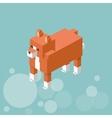 Animal design Isometric icon nature concept vector image