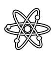 atom silhouette vector image