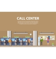 Call center interior with consultants for social vector image