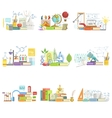 Different Sciences Related Objects Composition vector image