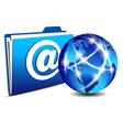 Email folder and communication Internet World vector image