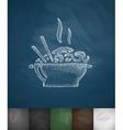 food icon Hand drawn vector image