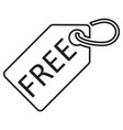 free tag line icon black color isolated on vector image