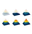 Pyramidal progress or loading bar vector image