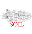 soil word cloud concept vector image
